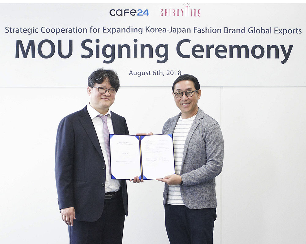Cafe24 and Shibuya109 sign MOU for boosting global exports of Korean and Japanese fashion