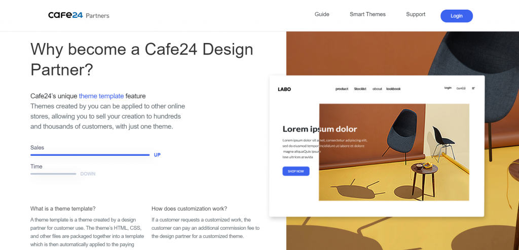 Cafe24 partners support customizing online stores