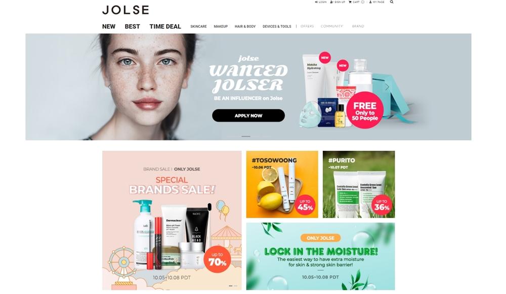 Jolse is one of K-beauty platform